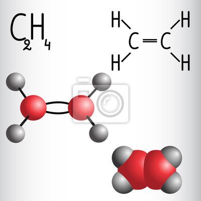 Cấu trúc phân tử khí ethylene