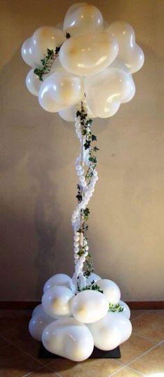 Cột bóng bay tiệc cưới