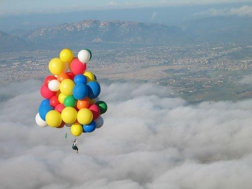 Cần bao nhiêu quả bóng bay khí heli để nâng bạn lên khỏi mặt đất, bóng bay heli