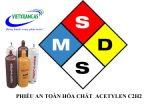 MSDS Acetylen Phiếu an toàn hóa chất