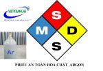 MSDS phiếu an toàn hóa chất khí Argon
