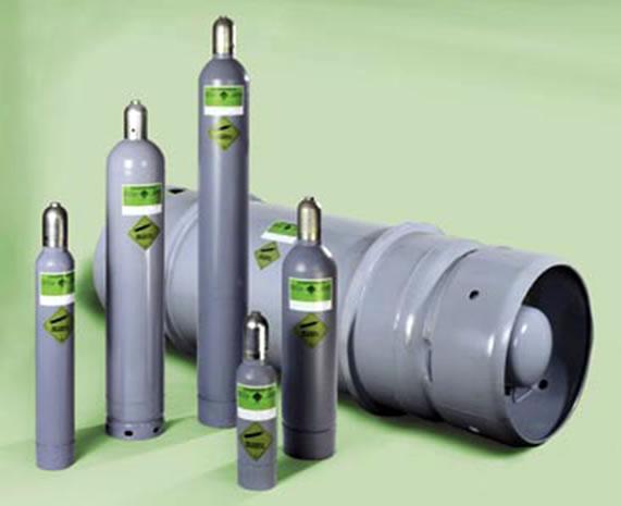 Chai chứa khí SF6 dùng để nạp cho máy cắt điện SF6