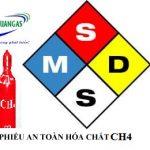 MSDS khí methane - CH4